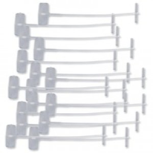 Avery Tagging Fasteners Polypropylene with Paddles 40mm Ref 02141 [Pack 5000]
