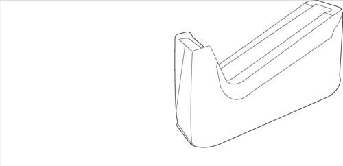 White Box Dual Core Desk Tape Dispenser Holds 33mm/66mm