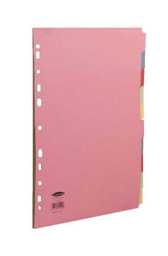 Concord Commercial Subject Dividers Extra Wide 10-Part A4 Assorted Ref 51599