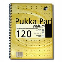 Pukka Pad Vellum Notebook Wirebound Perforated Ruled Margin 80gsm 120pp A4 Vellum Ref VJM/1 [Pack 3]