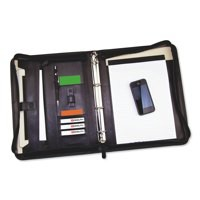 Monolith Conference Folder Zipped Leather A4 Black 2924