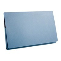 Guildhall Document Wallet Full Flap 315gsm Capacity 35mm Foolscap Blue Ref PW2-BLUZ [Pack 50]