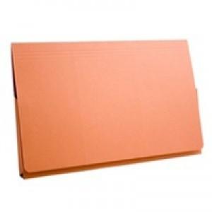Guildhall Document Wallet Full Flap 315gsm Capacity 35mm Foolscap Orange Ref PW2-ORGZ [Pack 50]