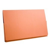 Guildhall Document Wallet Full Flap 315gsm Capacity 35mm Foolscap Orange Ref PW2-ORGZ [Pack 50]