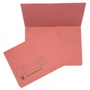 Guildhall Document Wallet Full Flap 315gsm Capacity 35mm Foolscap Pink Ref PW2-PNKZ [Pack 50]