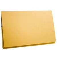 Guildhall Document Wallet Full Flap 315gsm Capacity 35mm Foolscap Yellow Ref PW2-YLWZ [Pack 50]