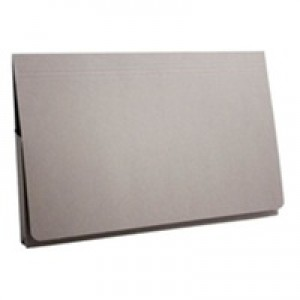 Guildhall Document Wallet Full Flap 315gsm Capacity 35mm Foolscap Grey Ref PW2-GRYZ [Pack 50]