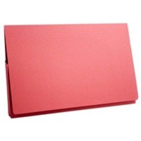 Image for Guildhall Document Wallet Full Flap 315gsm Capacity 35mm Foolscap Red Ref PW2-REDZ [Pack 50]