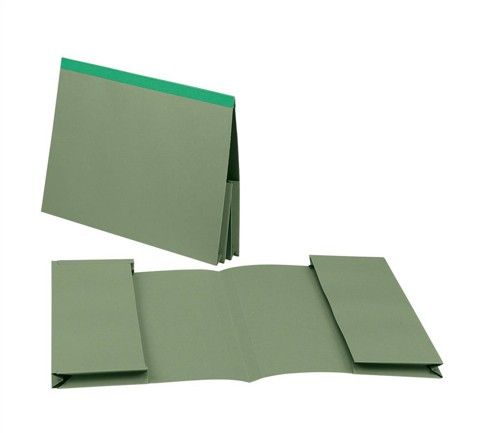Guildhall Legal Wallet Double 35mm Pocket Reinforced Manilla 315gsm Foolscap Green Ref 218-GRNZ [Pack 25]