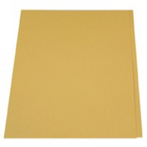 Guildhall Square Cut Folders Manilla 315gsm Foolscap Yellow Ref FS315-YLWZ [Pack 100]