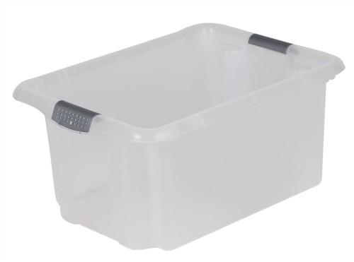 Strata Storemaster Archive Box Minus Lid Plastic Medium 31 Litre W375xD510xH240mm Clear Ref HW309CLR