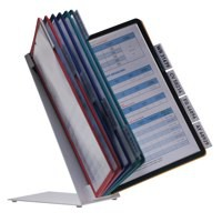 Durable Vario Desk Display Unit Complete with 10 Tabs and 10 Panels A4 Assorted Ref 5570/00