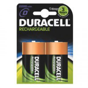 Duracell Battery Rechargeable Accu NiMH 2200mAh D Ref 81364737 [Pack 2]