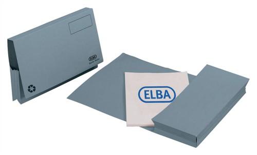 Elba Probate Wallets Manilla 315gsm Full Flap Foolscap Blue Ref 100090048 [Pack 25]