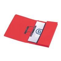 Elba Stratford Transfer Spring File Recycled Pocket 315gsm 32mm Foolscap Red Ref 100090278 [Pack 25]