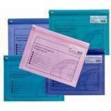 Snopake Zippa Bag Plastic Folder Zip Pull Flexible A4 Assorted Ref 14141 [Pack 25]