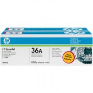 HP No.36A Laser Toner Cartridge Black Twin Pack Code CB436AD