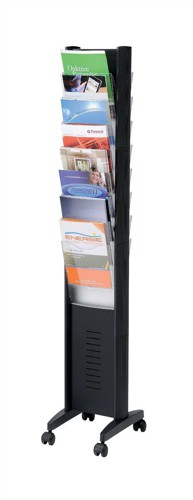 Display Floorstanding 10 Compartment Black