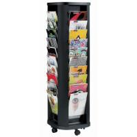 Literature Display Carousel Mobile 40x23mm A4 Pockets Black