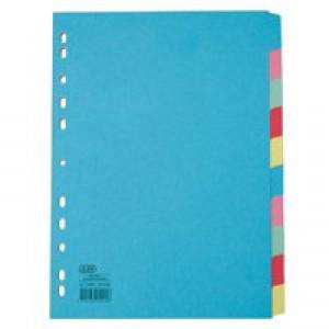 Elba A4 10 Part Card Divider Assorted