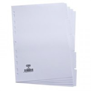 Elba File Dividers 5-Part A4 White