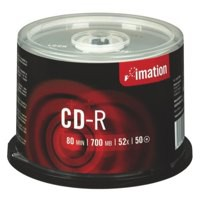 Imation CD-R Recordable Disk Write-once on Spindle 52x Speed 80Min 700MB Ref i18647 [Pack 50]