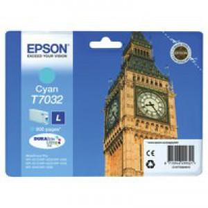 Epson Big Ben Ink Cartridge Cyan Ink C13T70324010