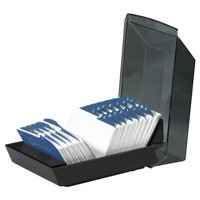 Image for 5 Star Office Classic Business Card Book PVC 64 Pockets for 128 Cards 278x120mm Black