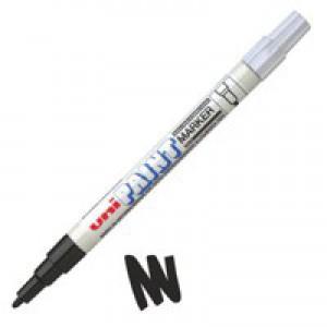 uni Paint Marker Bullet Tip Fine Point PX21 Line Width 0.8-1.2mm Black Ref 124628000 [Pack 12]