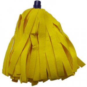Cloth Mop Head Refill Thick Absorbent Strands Yellow