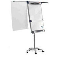 Nobo Piranha Flipchart Easel Magnetic Large with Extending Display Arms Mobile on 5 Castors Ref 1901920