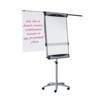 Image for Nobo Piranha Flipchart Easel Magnetic with Extending Display Arms Ref 1901919