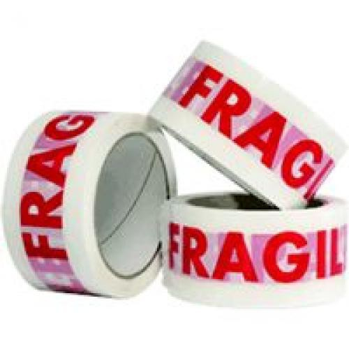 Polyprop Prtd Tape - Fragile Red on White 48mm x 66m 36/Box