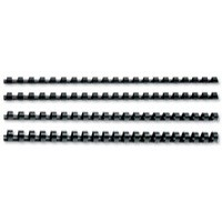 GBC Binding Combs Plastic 21 Ring 210 Sheets A4 22mm Black Ref 4028602 [Pack 100]