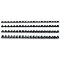 GBC Binding Combs Plastic 21 Ring 210 Sheets A4 22mm Black Ref 4028602 [Pack 100]