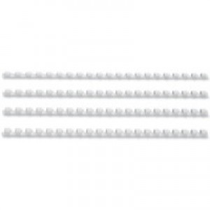 GBC Binding Combs Plastic 21 Ring 195 Sheets A4 22mm White Ref 4028612 [Pack 100]