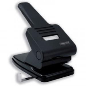 Rapesco 2-Hole Perforator 865-P Heavy Duty Self-Centring Punch 63 Sheets Black Code PF865PB2