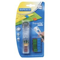 Rapesco Supaclip 40 Dispenser with 25 Clips for 40 Sheets of 80 gsm Multicoloured Ref RC4025MC