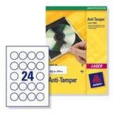 Avery AntiTamper Labels 40mmDia L6112-20