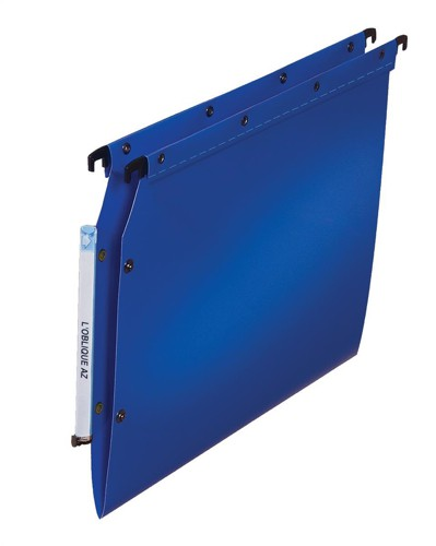 Elba Ultimate Polypro Lateral File Polypropylene 330mm V-Base A4 Blue Ref 100330583 [Pack 25]