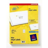 Avery Quick DRY Addressing Labels Inkjet 12 per Sheet 63.5x72mm White Ref J8164-100 [1200 Labels]