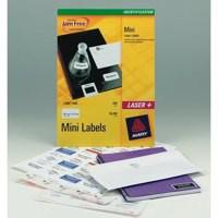 Avery Mini Labels Laser 40 per Sheet 45.7x25.4mm White Ref L7654-25 [1000 Labels]
