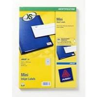 Avery Mini Labels Inkjet 189 per Sheet 25.4x10mm White Ref J8658REV-25 [4725 Labels]