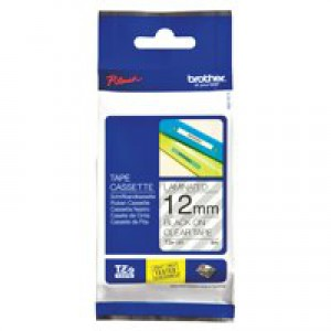 Brother P-touch TZ Label Tape 12mmx8m Black on Clear Code TZ-131