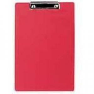 Clipboard Standard with Pen Holder Foolscap Red