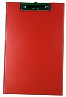 Clipboard Fold Over with Pocket and Pen Holder Foolscap Red