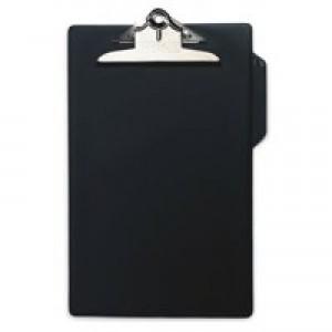 Clipboard PVC Finish Heavy Duty Foolscap Black