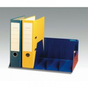 Lever Arch Filing Rack Portable Rigid Metal W425xD300xH160mm Blue