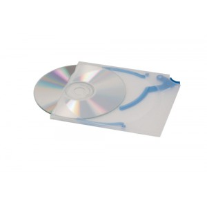 Durable CD Quickflip Standard Case Slimline for 1 Disk Translucent Pack 5 Code 5267/06