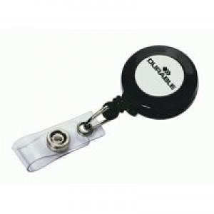 Durable Badge Reel Charcoal PK10 8152/58
